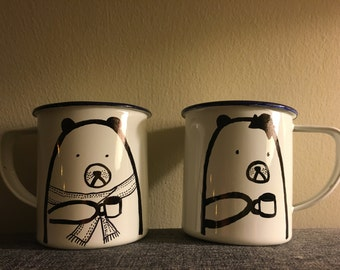 "Coffee mugs--""bear with me"""