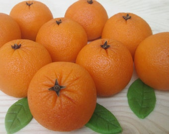 Fondant fruit etsy for Fruit orange decoration