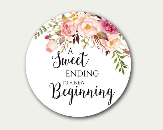 Wedding Favour Gift Tags: Wedding Favor Tag A Sweet Ending To A New Beginning Favor