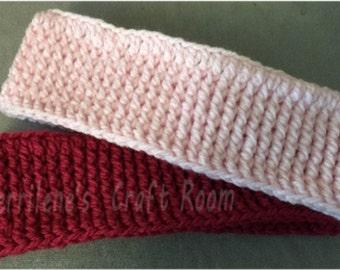 Versatile, Unisex Thick Ribbed Headband (ear warmer) Crochet Pattern