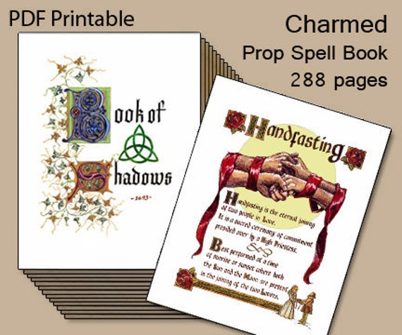 Charmed, Book of Shadows, Printable Spell Book
