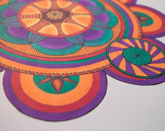 Colorful mandala drawing