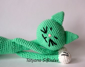 cat, hand made, crochet toy, 47cm