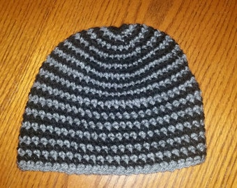 Black and grey infant/toddler beanie