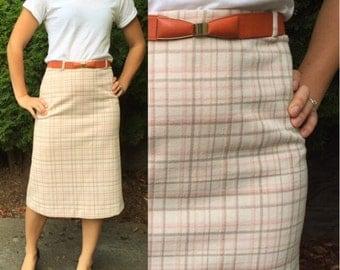 Preppy Librarian Pencil Skirt-Vintage