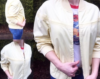 Vintage 80's JCPenny Pale Yellow Jacket