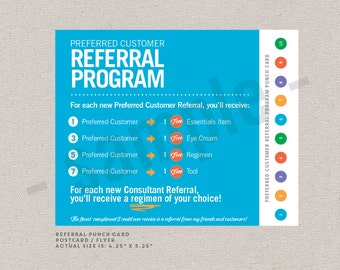 referral program punch cards  // Rodan+Fields inspired // digital file // Instant Download