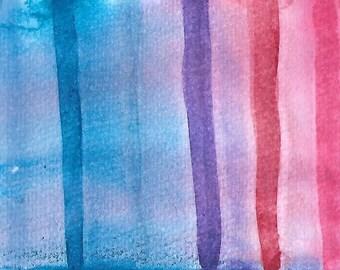 "Original Art Print, ""Blue Wash to Pink"""