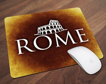 Rome Mouse Pad, Italy Mouse Pad, Office Gift, Co-Worker Gift, Boss Gift, Student Gift