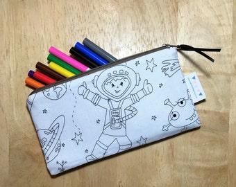 Coloring book pencil case - Outer Space - Pencil Case - Zipper Pouch
