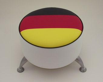 German Flag footstool