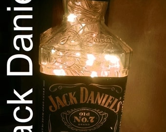 Jack Daniels LED Lamp Light Upcycled Glass Bottle Battery or Mains GreyGoose JD