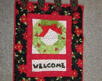 Christmas door quilt