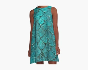 Mermaid Scales A-Line Dress