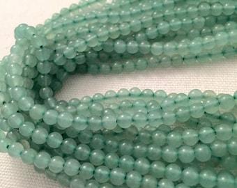 """SALE-Green Aventurine round beads, 4mm aventurine beads. 16"""" full strand, around 81beads"""
