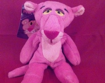 Pink Panther McDonald's Restaurant Happy Meal Rare Vintage 1996 United Artist Pictures Promotional Plush Bean Bag Stuffed Animal Kids Toy