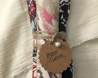 Vintage burp cloths