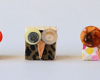 recycled wood magnets