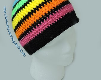 Crochet Rainbow Beanie (Child Size)