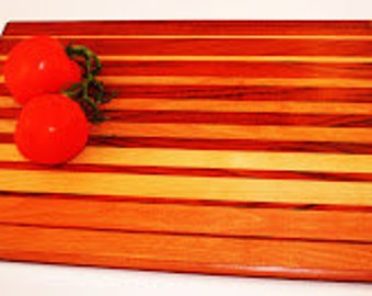 Beautifully Hand Crafted wooden Cutting board-Charcuteric Board-Artisanal Cheese Board-Serving Tray-Sushi Tray-Gourmet Chef Gift-Valentines