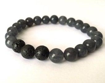 Essential Oil Aromatherapy Bracelet - Dark Gray