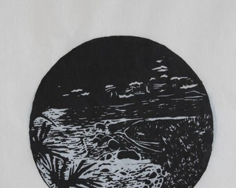 Original Hand-Crafted Lino Print (Small size)