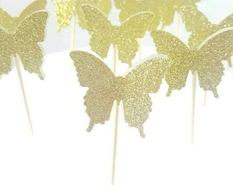 Butterfly party, gold butterflies, birthday, wedding, bridal shower, butterflies, girl's birthday, Sparkle and shine