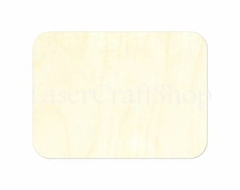 Rectangle with Rounded Corners Candles Wooden Cutout Shape, Silhouette, Gift Tags Ornaments, Room Decoration, Laser Cut Birch Wood #1470