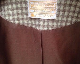 1960's Pendleton Women's Jacket, Size 14