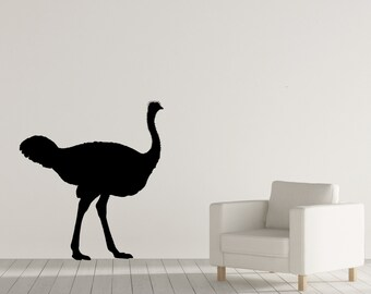 Ostrich Decal, Wall Decal, Ostrich, Vinyl Wall Decal, Animal Decals, Vinyl Decal