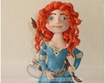 Merida Cake topper / birthday princess Merida / brave cake