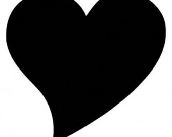 Chalkboard Heart Vinyl Decal