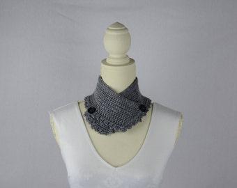Crochet Grey Neck Warmer