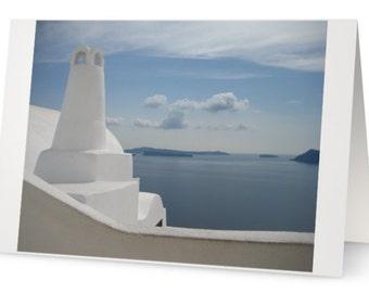 BLANK CARD:  'Greek island blues' from Greek Blues Series. Photo by Francesca Muir