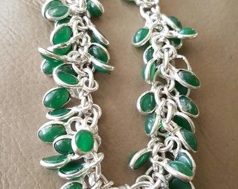 Green Onyx Bracelet- 8 inches!