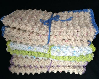 Crochet Scrubby Washcloths Wash Cloth Dish Cloth Dishcloth