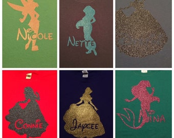 Disney Princess Silhouette Shirt