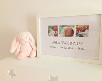 Photo birth announcement print