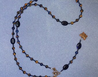 Butterfly Rosary Style Necklace
