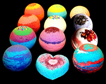 Bath Bombs - 9 pack FIZZY - 4.5 ounces BATH BOMB Lush - Organic Colorful Mix and Match
