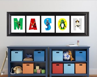 Personalized Lego Ninjago Name Art, Ninjago Custom Letters, Digital File, Boy, Girl, Ninjago Decor,Lego Ninjago decor, Personalized Name