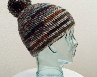 Crocheted PomPom Hat