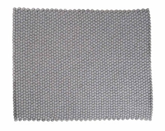 Aspru: Rectangle Grey Scandinavian Designer Carpets from High Quality Wool, Buy Online