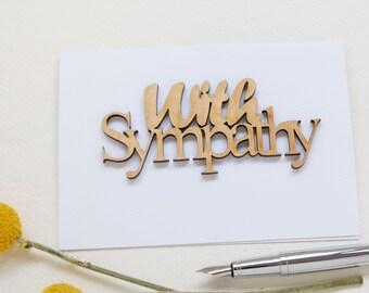 Sympathy Card - With Sympathy Card - Condolences Card - Laser Cut Card - Natural Wooden Card - Pet Sympathy cards-Bereavment Cards