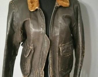 WWII leather bomber jacket