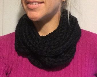 Layered circle scarf - Black