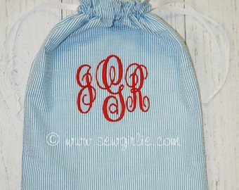 Preppy Monogrammed Itty Bitty Ditty Bag