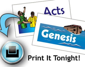 Books of the Bible Flashcards Printable Instant Download