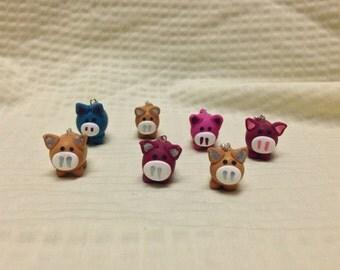 mini pig charm