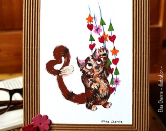 Love chat: original painting